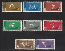POLAND - 1079-1086 - MH - 1962 - 7TH EUROPEAN ATHLETIC CHAMPIONSHIPS, BELGRADE