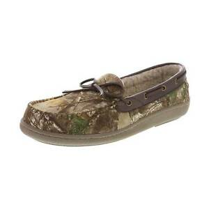 Rugged Outback Men's Mitchell Camo Moccasin Slipper Shoes