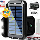 2020 Waterproof Solar Power Bank 900000mAh Portable External Battery Charger US