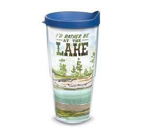 Tervis Tumblers 24 Oz. Lake Wraps W/Lids-New W/Tags