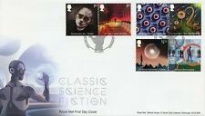 More details for gb 2021 fdc literature stamps classic science fiction time machine 6v set