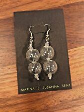 MURANO ITALIAN BLOWN GLASS ORIGINAL BUBBLE EARRINGS ITALY MARINA SUSANNA SENT