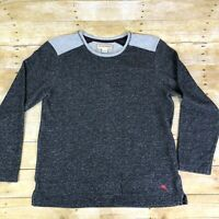 Tommy Bahama Mens Size L Grey Black Sweater Shirt Crew Neck Long Sleeve Pullover