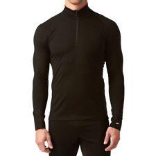 Icebreaker Mens Mondo Long Sleeve Half Zip 200g Merino Wool Top Black, M