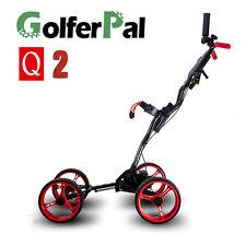GolferPal Q2 4 wheels Auto folding unfolding push golf buggy cart trolley 2017