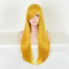 Yellow Pastel Gold Long Natural women straight Hair Pastel Harajuku wigs Wig