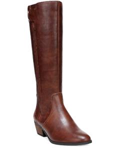 NEW DR. SCHOLLS Women's Brilliance Western Boots Size 7 M Whiskey $130