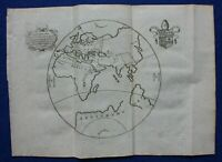 WORLD, original antique map, POMPONIUS MELA, John Reynolds edition, 1789