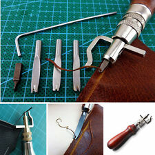 Leather Craft Punch Tools Kit Stitching Carving Working Sewing Saddle Groover CA