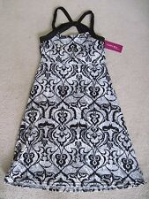 NWT Soybu Athletic Yoga Dress Black White beach casual Size XS