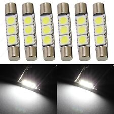6 x White 28mm 3SMD T6 6641 LED Bulbs Sun Visor Vanity Mirror Fuse Lights + TOOL