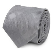 Stark Direwolf Gray Plaid Silk Men's Tie