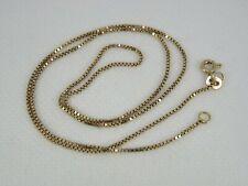 "ESTATE 18k Yellow Gold Box Chain Necklace 17.5"""