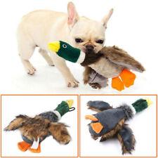 Chien de mastication d'animal familier peluche canard son pour le jouet de jeu