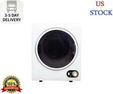 Compact 1.5 cu. ft. Electric Dryer in White Fast US shipping