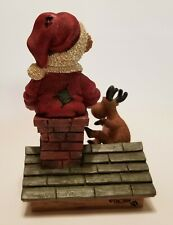 "New ListingBoyd's Bears Santa and Ralph ""Too Many Cookies"" Figurine 2010 ~ Rare"