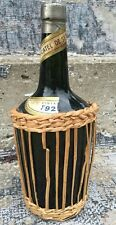 Vintage Decorative Glass Bottle Wicker Moscatel De Setubal Decor Basket 1920's