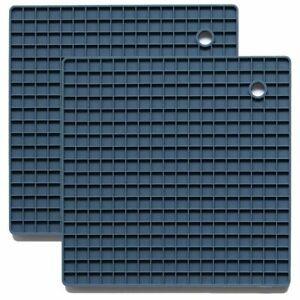 "2pk Silicone Hot Pad Trivets Soft Non-Slip 7"" Square Silicone Mat Pot Holders"