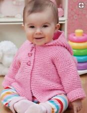 Baby Aran Jacket with Hood - Easy Beginner  6 - 24 Months  Knitting Pattern