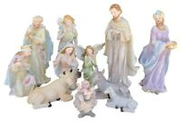 """Nativity Set 12"""" Jesus,Mary, Joseph, Shepherd,Guardian Angel,Three Kings & Anima"""