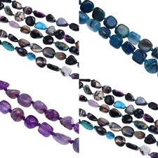 Black Blue Purple Tumbled Chunky Chips Nugget Agate Gemstone Beads