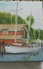 "Sail Boat Seascape Painting Original Oil on Canvas  8""x10"" Signed Jim Nugent"