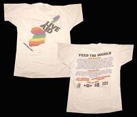 Vintage RARE LIVE AID 1985 PHILADELPHIA concert t-shirt S-2XL Reprint