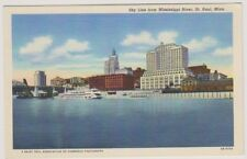 USA postcard - Sky Line from Mississippi River, St Paul, Minn. (A128)