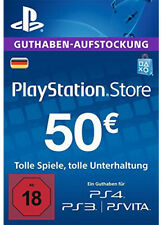 DE €50 PLAYSTATION NETWORK Prepaid Card Karte Key PSN PS3 PS4 PSP Code EUR