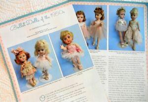 8p History Article + ID - VTG 1950s Ballet Ballerina Dolls - Alexander Dollikin+