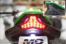 2014-2016 Kawasaki Z1000 16-18 Ninja ZX10R SEQUENTIAL LED Tail Light SMOKED
