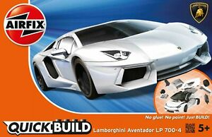Airfix QUICK BUILD Lamborghini Aventador LP 700-4 Snap Plastic Model Kit J6019