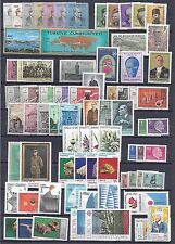 TURKEY 1960s 70s COLLECTION OF 450 MINT ALMOST ALL IN COMPLETE SETS DEFINITIVES