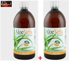 Promopharma Aloe Vera Jus Pur 2 L - 100% Aloe Pur 2 Bouteilles de 1 L