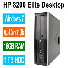 HP 8200 Elite Desktop Computer, 16GB RAM, 1TB, Intel i5 Quad Core 3.1GHz, Win 7