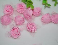 76pcs MIXED ROSE MULBERRY PAPER FLOWER ARTIFICIAL CRAFT SCRAPBOOK WEDDING pink