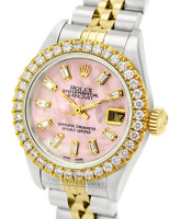 Rolex Lady Datejust PInk MOP Diamond Dial Diamond Bezel 26mm -QUICKSET
