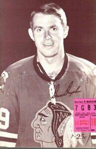 1967 12/31 Hockey program/ticket Oakland Seals @ Chicago Blackhawks ~ EX