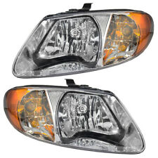 Headlights Headlamps for 2001-2007 Chrysler Town & Country Voyager Dodge Caravan (Fits: Chrysler)