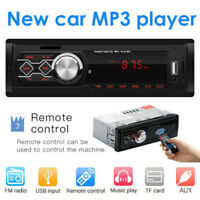 Single 1Din Car Stereo MP3 Music Player FM Radio AUX TF Card USB U Disk w/ RC