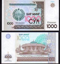 OUZBEKISTAN 1000 SOM Pick 82 2001 Comme neuf UNC