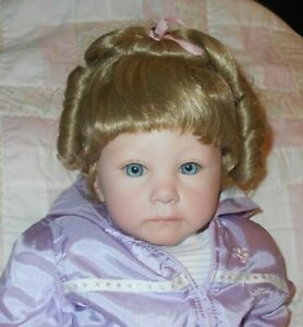 Pippin Hollow RENEE Doll Wig 14/15~BLONDE~Pulled up Do Full Cap~Modacrylic NWT