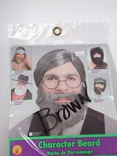 Theatrical Brown Beard Hair Disguise Stage Costume Halloween Accessory Rubies