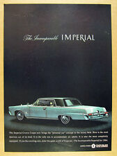 1964 Chrysler Imperial Crown Coupe blue car art vintage print Ad