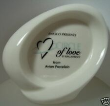 "ENESCO  ""CIRCLES OF LOVE WHITE- SIGN STAND""  MINT IN BOX"