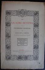 ALKAN AINE ET LEPRINCE: LES QUATRE DOYENS DE LA TYPOGRAPHIE PARISIENNE, 1889