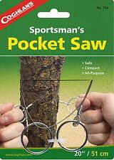 SPORTSMAN'S POCKET WIRE SAW, CUTS  WOOD, METAL PLASTIC OR BONE, NO SHARP EDGES