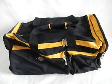 """Polaris Expedition Duffle Bag/Gear Bag With Wheels, Black & Yellow, 28"""""""