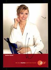 Andrea Kiewel ZDF Autogrammkarte Original Signiert # BC 93550