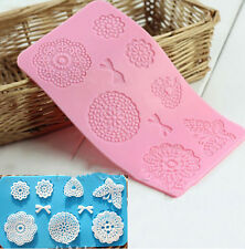 Silicone Lace Mat Butterfly Fondant Sugar Craft Mould Cake Decorating Mold Tool